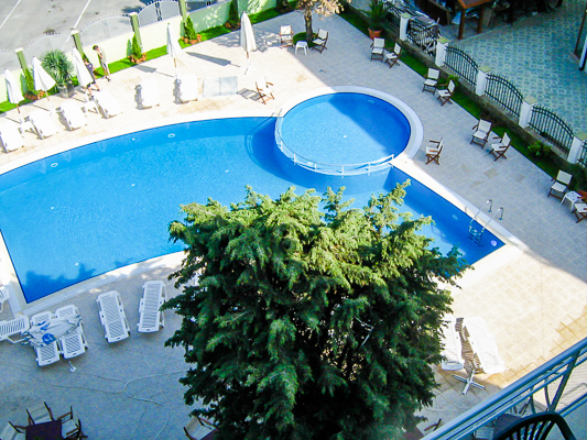 Sunny Beach, Hotel Boomerang, piscina exterioara.jpg