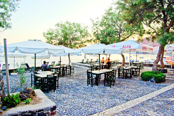 Santorini, Hotel Akrotiri, restaurant exterior.jpg