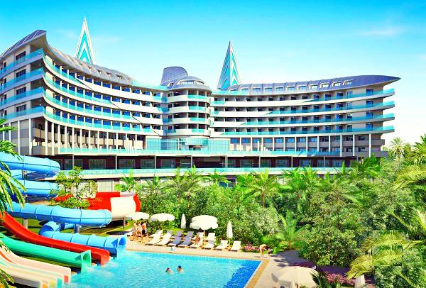 Alanya, Hotel Delphin Botanik Premium, exterior, hotel, piscina, tobogane.jpg
