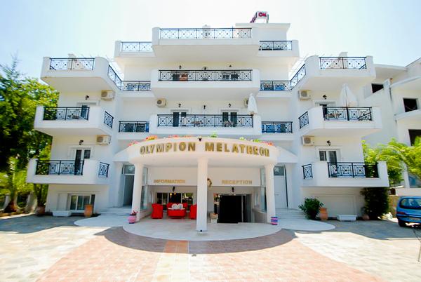 Platamonas, Hotel Olympion Melathron, exterior, intrare.jpg